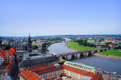 Panoramiczny widok Drezdeński Obraz Royalty Free