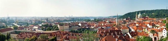 Panoramiczny widok dziejowi budynki w Praga, republika czech fotografia royalty free