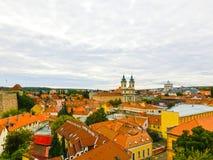 Panoramiczny widok Eger miasto w Węgry Zdjęcia Royalty Free