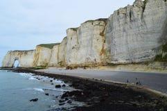 Panoramiczny widok Etretat fotografia royalty free