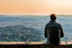 Panoramiczny widok Firenze od Fiesole obrazy royalty free