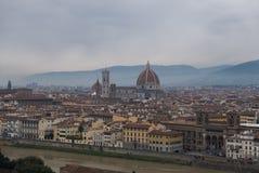 Panoramiczny widok Florencja od Piazzale Michelangelo obraz royalty free