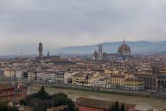 Panoramiczny widok Florencja od Piazzale Michelangelo obraz stock