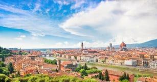 Panoramiczny widok Florencja, Włochy zdjęcia stock