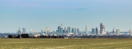 Panoramiczny widok Frankfurt linia horyzontu Fotografia Stock