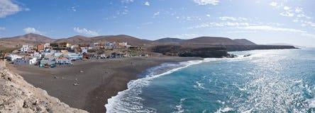 Panoramiczny widok Fuerteventura, Ajuy - zdjęcie stock