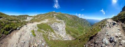 Panoramiczny widok góra Bucegi na lecie Obrazy Royalty Free