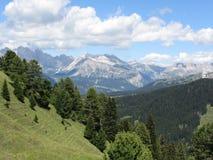 Panoramiczny widok górski włoscy dolomity przy latem Południowy Tyrol, Bolzano, Włochy obrazy royalty free