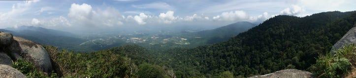 Panoramiczny widok gęsty tropikalny las przy Gunung Datuk szczytem obraz royalty free