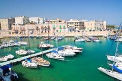 Panoramiczny widok Giovinazzo Puglia Włochy obraz royalty free