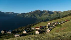 Panoramiczny widok Gito plateau w Czarnym morzu, Rize, Turcja fotografia royalty free