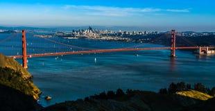 Panoramiczny widok Golden Gate Bridge w San Fransisco Obrazy Stock