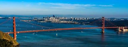 Panoramiczny widok Golden Gate Bridge w San Fransisco Fotografia Stock