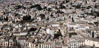Panoramiczny widok Granada od Ahambra pałac Fotografia Royalty Free