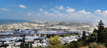 Panoramiczny widok Haifa Obraz Royalty Free