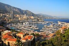 Panoramiczny widok Hercules schronienie w Monaco Zdjęcie Stock