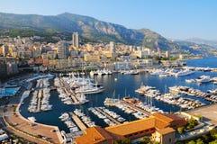 Panoramiczny widok Hercules schronienie w Monaco Obraz Stock