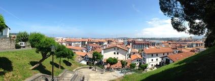 Panoramiczny widok Hondarribia zdjęcie stock