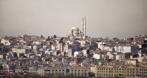 Panoramiczny widok Istanbuł Zdjęcie Royalty Free