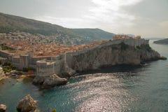 panoramiczny widok izolujący miasto, Dubrovnik Chorwacja obrazy stock