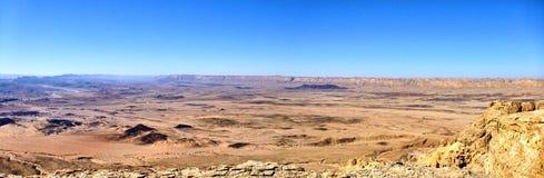 Panoramiczny widok jar Ein Avdat zdjęcia stock