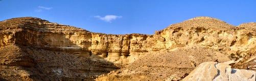 Panoramiczny widok jar Ein Avdat fotografia royalty free