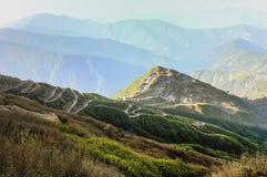 Panoramiczny widok Jedwabnicza trasa, Sikkim Fotografia Stock