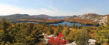 Panoramiczny widok jeziora Killarney w jesień Fotografia Stock