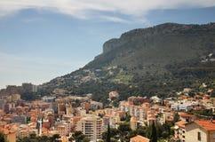 Panoramiczny widok Kanton De Beausoleil Francja Obraz Royalty Free