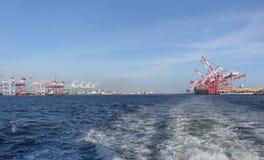 Panoramiczny widok Kaohsiung port Fotografia Stock