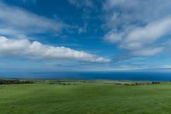 Panoramiczny widok Kohala wybrzeże na Dużej wyspie Hawaje brać wysoka elewacja obrazy stock