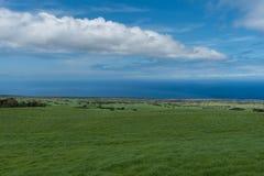 Panoramiczny widok Kohala wybrzeże na Dużej wyspie Hawaje brać wysoka elewacja obrazy royalty free