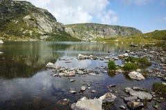 Panoramiczny widok koniczyna, Rila góra, Zdjęcia Royalty Free