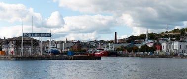 Panoramiczny widok Korkowy miasto w Irlandia Obrazy Royalty Free
