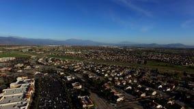 Panoramiczny widok krajobraz wieś zdjęcie wideo