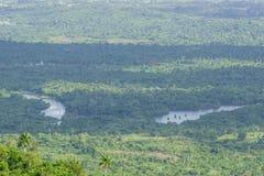 Panoramiczny widok lasów terrazas, pinar del Rio, Kuba Zdjęcia Stock