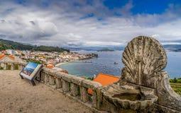 Panoramiczny widok linia brzegowa w Vigo, Galicia Hiszpania Zdjęcia Royalty Free