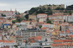 Panoramiczny widok Lisbon, Portugalia Obraz Royalty Free