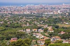 Panoramiczny widok Livorno Obrazy Stock