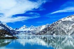 Panoramiczny widok lodowiec zatoki park narodowy alaska Zdjęcia Stock