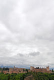 Panoramiczny widok los angeles Alhambra Grenada obrazy stock