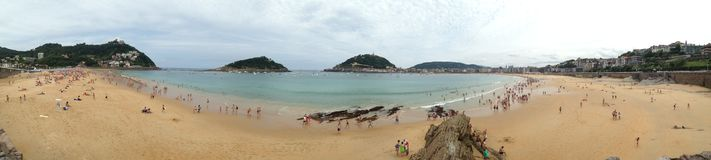 Panoramiczny widok Los angeles Playa De Los angeles Concha zdjęcia stock
