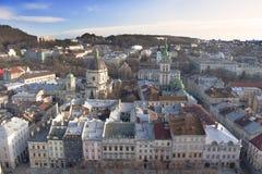 Panoramiczny widok Lviv zdjęcie stock