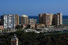 Panoramiczny widok Malaga, los angeles Alcazaba, Histiric budynek, Malaga, Hiszpania zdjęcia stock