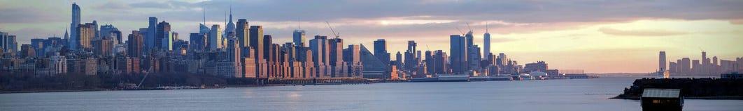 Panoramiczny widok Manhattan od NJ fotografia stock