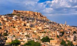 Panoramiczny widok Mardin, Turcja zdjęcie royalty free