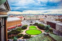 Panoramiczny widok Mariinsky St Isaac i pałac ` s Obciosuje od wzrosta świętego St Isaac ` s katedra, St Petersburg, Rosja fotografia royalty free