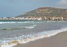 Panoramiczny widok Marina okręg w Agadir Maroko Obrazy Stock
