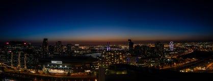 Panoramiczny widok Melbourne Docklands Obraz Stock
