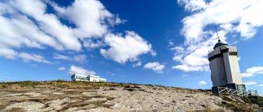Panoramiczny widok Mer latarnia morska i latarnia morska mieszkaniec Zdjęcie Stock